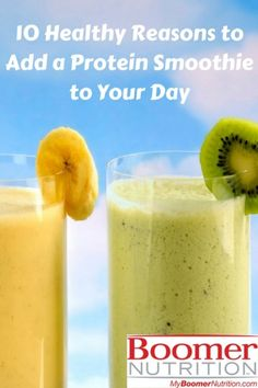 With of protein, a smoothie is a nutritious breakfast, a healthy snack & helps you get protein you need as you age. Add a protein smoothie to your day. Casein Protein, Hemp Protein, Ideal Protein, High Protein Foods List, High Protein Recipes, Protein Sources, High Protein Breakfast, Nutritious Breakfast, Low Estrogen