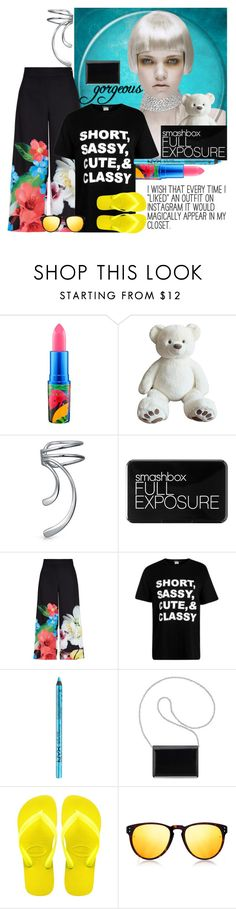 """""""Blondes rule, make your color bold , own it, be it, blondes take all ♥"""" by linda-caricofe ❤ liked on Polyvore featuring MAC Cosmetics, Bling Jewelry, Smashbox, Ted Baker, BoohooMAN, Nine West, Havaianas and Linda Farrow"""