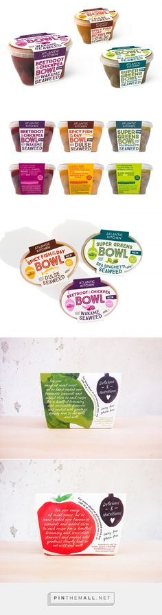 Atlantic Kitchen bowls by Galia Rybitskaya. Source: Behance. Pin curated by #SFields99 #packaging #design