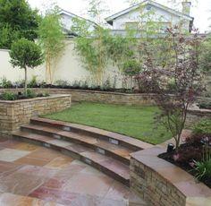 Split level Garden design and landscaping