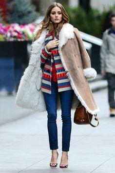 Stylish Shearling Jacket Outfit