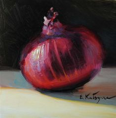 """Red Onion"" - Original Fine Art for Sale - © Elena Katsyura"