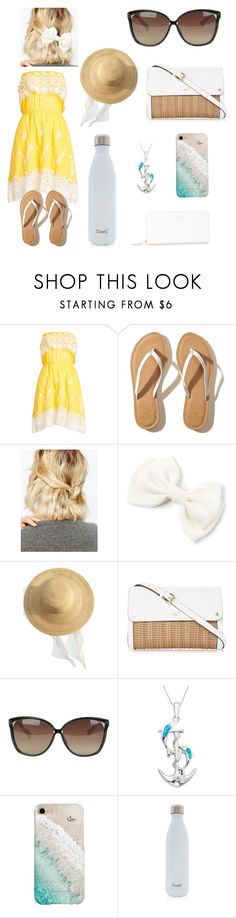 """Sunday Dress on a Sunny day"" by jkolbe31 on Polyvore featuring Christophe Sauvat, Hollister Co., WithChic, Samuji, Linda Farrow, La Preciosa, Gray Malin, S'well and Smythson"