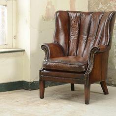 Beardsley Chair - Displayed in Hand Antiqued Bangkok hide