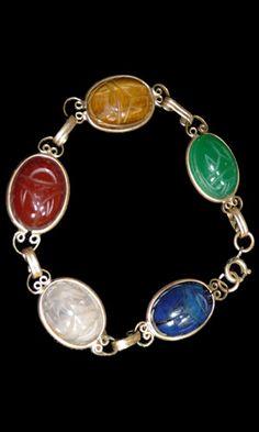 vintage gold filled scarab bracelet. Have 2 of my mother's scarab bracelets like this