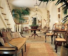 """The house that the actor shares with his wife, Sheryl, in southern California is """"a visual feast,"""" says interior designer Monique Lafia"""