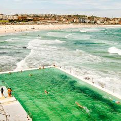 This image was taken at Bondi Icebergs in Sydney NSW, along with another image, Day at the Beach. Pretty amazing spot to swim with waves crashing on