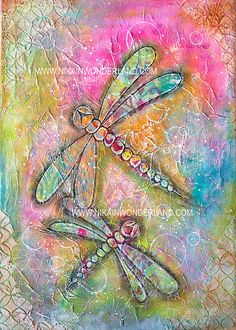 Original Mixed Media Canvas | Dragonfly