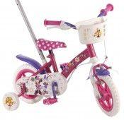 Volare Minnie Mouse detský bicykel 10 s tyčou