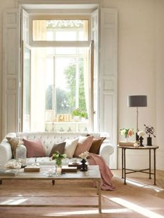 pink and white decor