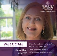BERKSHIRE HATHAWAY HOMESERVICES FLORIDA NETWORK REALTY WELCOMES JAYNE SILVEN