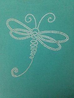 Dragonfly rhinestone shirt by DoodleBuddyDesigns on Etsy, $25.00