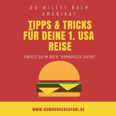 """Deine 1. USA Reise? Wundervoll, du brauchst das Buch """"Hamburger safari"""". Diese Buch erzählt Lach- und Sachgeschichten und gibt dir Tipps & Tricks für deinen Roud Trip. Bestelle jetzt unter www.hamburgersafari.de #usa #usareise #amerika #urlaub #reiseführer"""