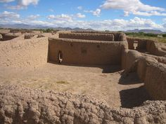Casas Grandes ruins-Paquime`, Chihuahua state, Mexico, huge ceremonial-political site with adobe structures built on old pithouses, 700 -1300 AD