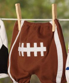 Football Diaper Cover.  Item #178470 Available at Impulse Gifts 812.481.2880 We ship daily.   https://www.facebook.com/ImpulseJasper