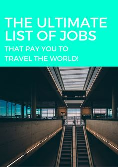 """This list is separated into four sections:      * Location-based opportunities:you're typically based in one location,       though often you can do this in a foreign city/country (live like a       local!) and can travel on your off-hours     * Work while you travel opportunities:travel is usually a main       component of these jobs, so you would literally be traveling for your       job. Keep in mind that you'd be working; it's not a vacation!     * Location-independent (""""digital…"""