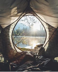 Glamping :: Camping Adventures :: Tents + Teepee :: Beach + Under the stars :: Wanderlust :: Gypsy Soul :: Outdoor travel Ideas + Inspiration Camping And Hiking, Camping Life, Backpacking, Lake Camping, Camping Cabins, Camping Glamping, Campsite, Camping Hacks, Camping Sauvage