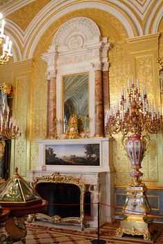 The Golden Drawing-Room, Winter Palace, St Petersburg, Russia