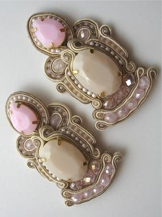 bridal soutache earrings
