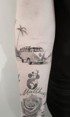 Vw Tattoo, Tattoos Masculinas, Forearm Tattoos, Love Tattoos, Tattoo Drawings, Tattoos For Women, Tattoos For Guys, Tatoos, Stylist Tattoos