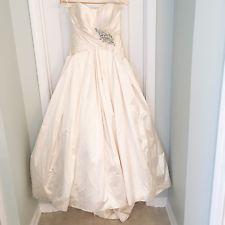 Priscilla of Boston Silk Feather Wedding Dress $2000