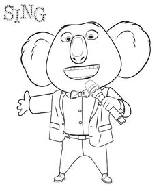 Sing Movie Coloring Pages Sing Movie Coloring - Kroblo Coloring Sheets For Kids, Cute Coloring Pages, Disney Coloring Pages, Animal Coloring Pages, Free Coloring, Coloring Books, Kids Coloring, Sing Movie Characters, Movie Crafts