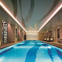 Our 20-metre heated indoor swimming pool is the perfect spot to destress after a long day exploring vibrant #Tokyo. - at Shangri-La Hotel, Tokyo