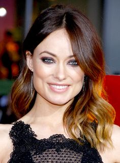 olivia wilde hair | Olivia Wilde's Brunette, Medium, Wavy, Romantic Hairstyle gives off a ...