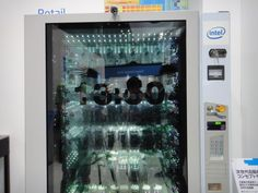 Vending Machine With A Transparent Touchscreen Display #Technology #Shopping