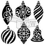 The Crafter's Workshop - Christmas - 6 x 6 Doodling Templates - Ornaments