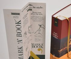 "#Remake #Favini bookmark ""Mark 'a' book"" Libreria Palazzo Roberti / Design: J Creative www.jcreative.it - Find more about #Remake http://www.favini.com/gs/en/fine-papers/remake/features-applications/"