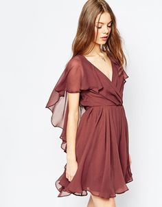 ASOS - Mini robe à mancherons Vestito Con Paillettes 93b586bd91c