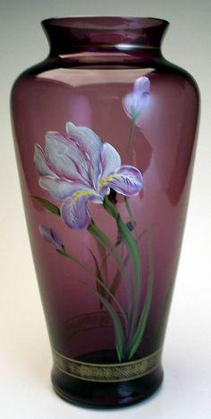 Aubergine Vase. Fenton Art Glass Newsletter