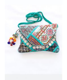 Turquoise Banjara Sling Bag! Every bag is different so be unique with our banjara bags!