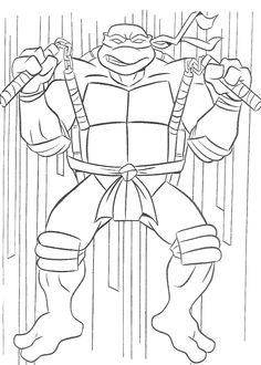 tmnt coloring pages on pinterest - photo#18