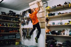 Man Cave Gear Room - A Day at the Office with the Swiss Machine Ueli Steck