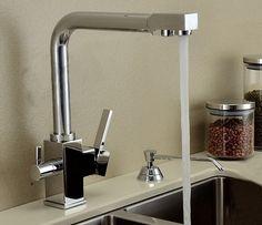 2016 Kitchen Faucet With Copper <b>Chrome</b> Matte Black And Tri Flow ...