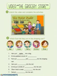 Food online worksheet for Sexto de Primaria. You can do the exercises online or download the worksheet as pdf. English Exam, English Class, Teaching English, English Vocabulary, English Grammar, Comprehension Worksheets, School Subjects, Your Teacher, Esl