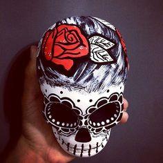 Chicana #skull #skulls #skullart #caveira #caveiramexicana #calaveramexicana #calavera #chicana #lamuerte #catrina #diadelosmuertos #chicano #latina #drawing #posca #artistic #art #artist #decoration #decor #girl #beautiful #photooftheday #rose #mexican #mexico #dark #rock #mywork #instagood