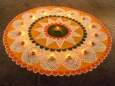 15 Best Rangoli Designs Ideas photos by bondita | HappyShappy Best Rangoli Design, Simple Rangoli Designs Images, Rangoli Designs Flower, Rangoli Patterns, Free Hand Rangoli Design, Rangoli Ideas, Rangoli Designs Diwali, Diwali Rangoli, Rangoli Designs With Dots