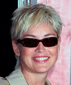 19 Gray Hairstyles & Haircuts - Pictures of Gray Hair on Celebrities.........Sharon Stone