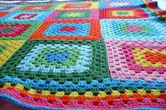 вязание крючком, одеяло