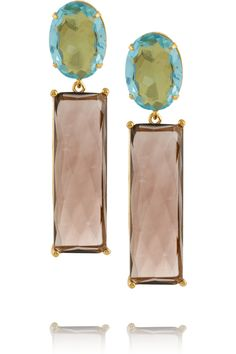 BOUNKIT Gold-tone quartz earrings £159.5 http://www.theoutnet.com/products/632655