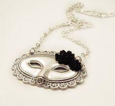 Phantom of the Opera: Mask Necklace. $22.00, via Etsy.