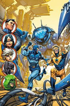 Justice League 3000 - Booster Gold and Blue Beetle by Kevin Maguire *