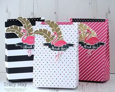 Pop of Paradise from Stampin' Up! Tracy May Sneak Peek Thank You Gifts