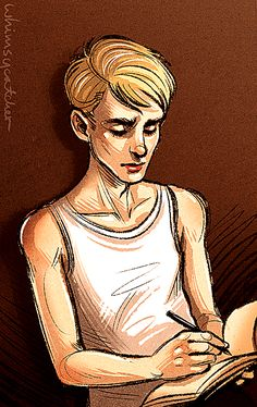 Pre-serum Steve having a bit of art-block. What shall inspire him? … Who? ;) I remember him being shown sketching in the films but I only recently read up on how his character was actually an art...