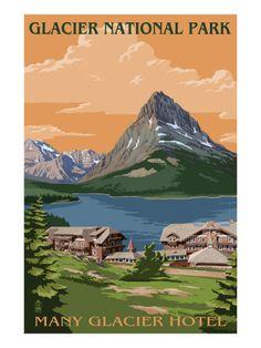Many Glacier Hotel - Glacier National Park, Montana