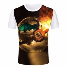 Artistic Charizard in Poké Ball - Pokémon T-Shirt