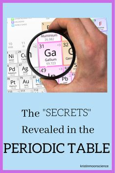 """The """"Secrets"""" Revealed in the Periodic Table - Kristin Moon Science Chemistry Lessons, Teaching Chemistry, Science Chemistry, Physical Science, Science Lessons, Science Memes, Science Ideas, Earth Science, Science Experiments"""